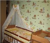 Изображение в Для детей Детская мебель Продам детскую кроватку в комплекте пеленальный в Прокопьевске 6000