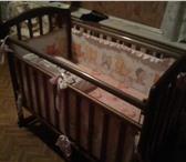 Фото в Для детей Детская мебель Детская кроватка с продольным маятником.Цвет-букИзготовлена в Воронеже 2500