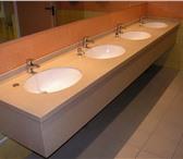 Фото в Мебель и интерьер Мебель для ванной Столешницы в ванную комнату из искусственного в Чебоксарах 6000