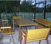 Изображение в Мебель и интерьер Мебель для дачи и сада Набор садовой мебели: стол-800х1600; скамья-L=1600мм в Калуге 18000