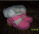 Фото в Для детей Детская обувь Сапожки вязанные с отделкой (искусственный в Асбесте 650