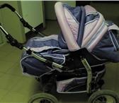 Фото в Для детей Детские коляски Цвет фиолетовый,есть люлька,накомарник,дождевик. в Сыктывкаре 3000