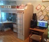 Изображение в Для детей Детская мебель Продам кровать/шкаф/стол + матрац (ортопедический) в Красноярске 18500