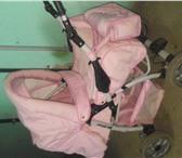 Foto в Для детей Детские коляски коляска-трансформер,цвет розовый,4 положения,всепогодная,легко в Орле 1500